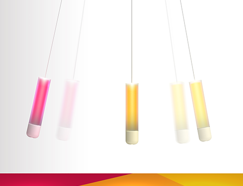 color swing detection lamp