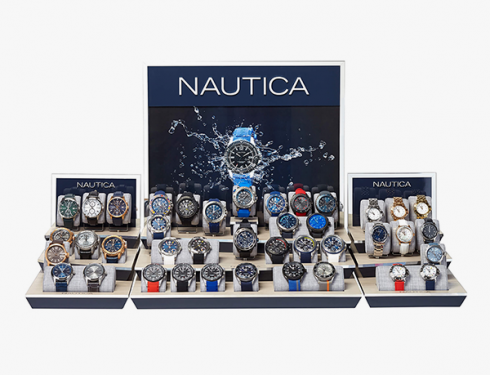 nautica window display swatches