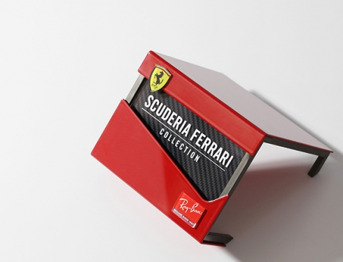 logoplack rayban ferrari display branding
